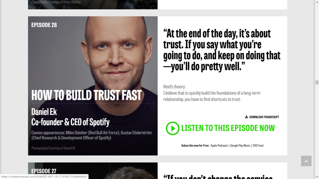 Listen to Spotify's Co-Founder and CEO telling us the journey in shaping up the music streaming business.