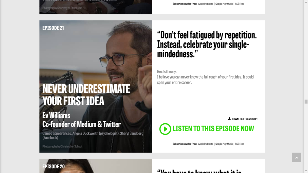 Every blog has to thank Ev Williams, the Co-Founder of Medium and Twitter.