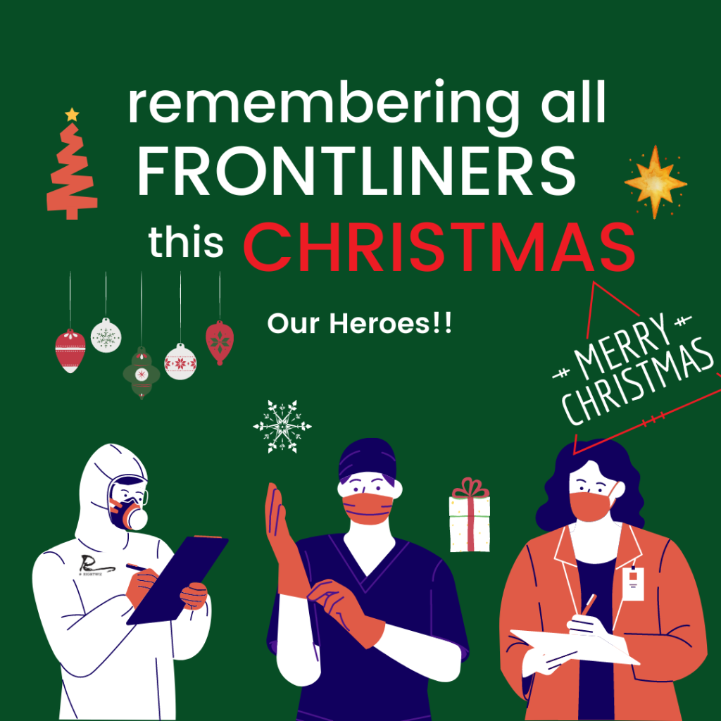 Dedicating Christmas to all the frontliners!